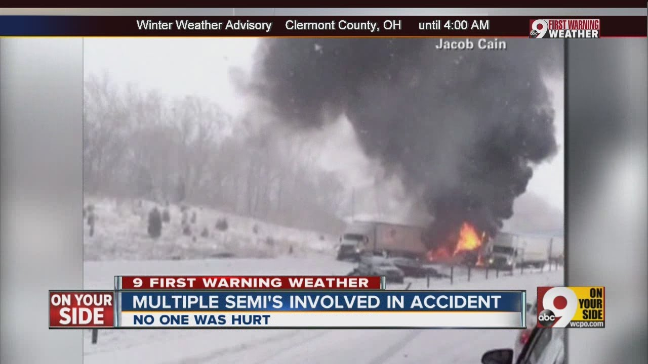 Snow causes numerous wrecks on I-65 in Indiana