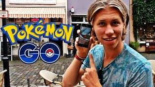 POKEMONJAKT I TYSKLAND!! (Pokémon Go)