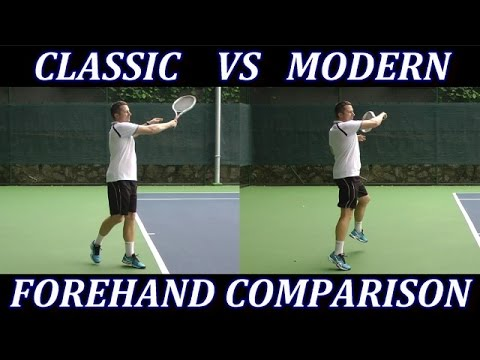 Classic Tennis Forehand vs Modern Forehand Technique