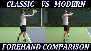 Classic Tennis Forehand vs Modern Forehand Technique