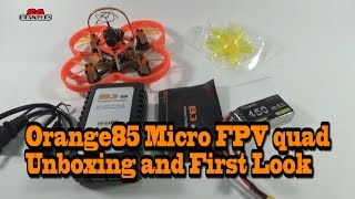 Realacc Orange85 F3 FPV Racer unboxing and first look