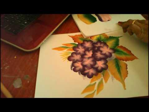 Acrylic Painting- One Stroke Technique, Decorative Art