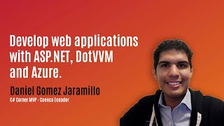 Developing web applications with ASP.NET, DotVVM and Azure