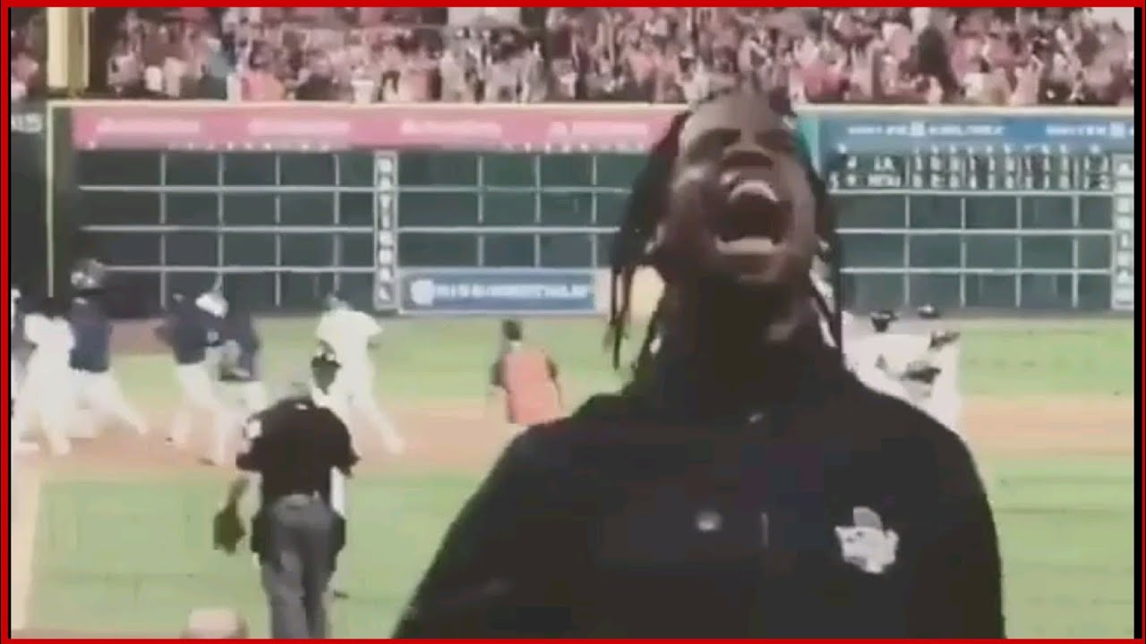 Travis Scott GOES CRAZY After Houston Astros WIN WORLD SERIES Against LA Dodgers - YouTube