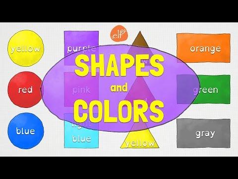 Shapes and Colors for Kindergarten and Preschool Children - ELF Kids Videos