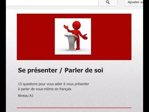 15 Questions Pour Apprendre A Parler De Soi Niv A1 Youtube