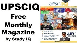 UPSCIQ Monthly Current Affairs Magazine by Study IQ, for UPSC CSE & all other competitive exams