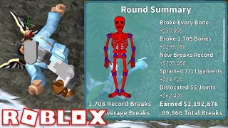 $1 MILLION JUMP! 1700 BONES!!! | Broken Bones IV | ROBLOX