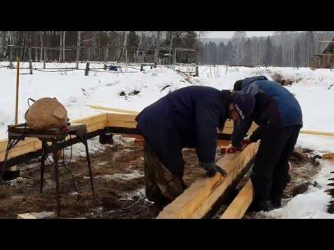 Строительство бытовки из бруса