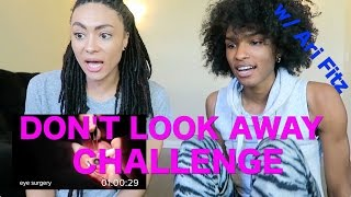 Don't Look AWAY Challenge W/ ARI FITZ (Amber vs. Ari)