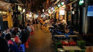 베트남 하노이 맥주거리에서 저렴하게 바베큐랑 맥주 먹기