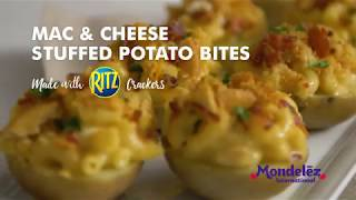 Mac & Cheese Stuffed Potato Bites made with RITZ Crackers