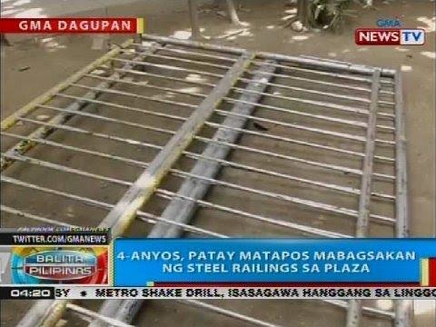 BP: 4-anyos, patay matapos mabagsakan ng steel railings sa plaza