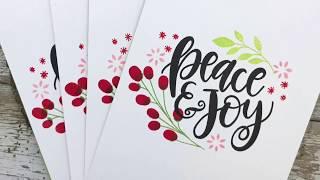 A Very Crafty Holiday 2017 - Holiday Card Set