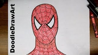 Drawing: How To Draw Spider-man Step by Step - Easy drawing tutorial