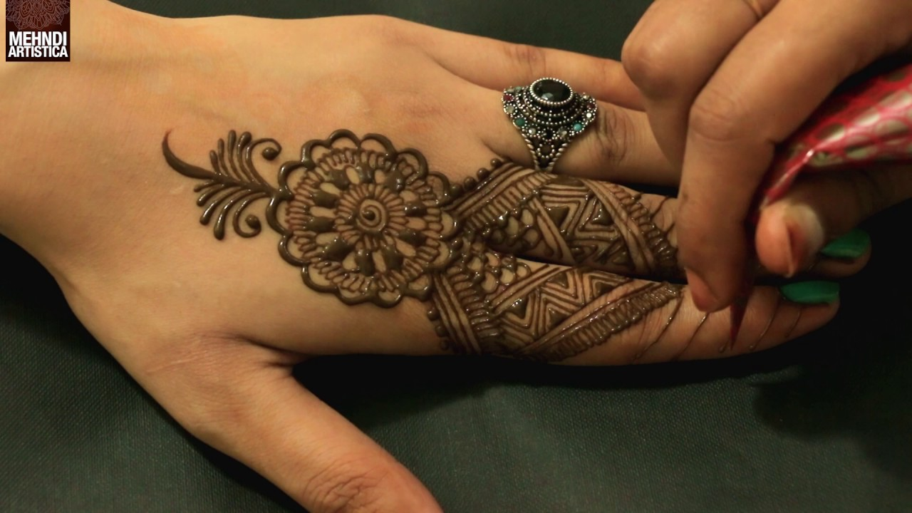 Mehndi For The Inspired Artist : Modern egyptian fingers mehndi design step by tribal