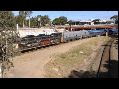 The Overland arrives in Adelaide