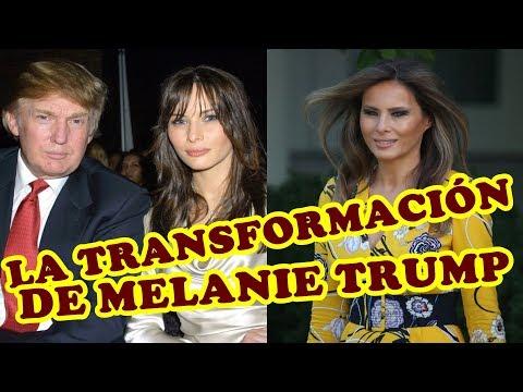LA TRANSFORMACIÓN  DE MELANIA TRUMP DESDE 1999