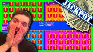 Live Play of Jackpot Block Party Slot Machine - Bonus and Hand Pay!
