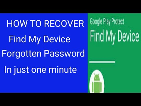 Unlock Your Phone From Find My Device Forgotten Password/ What If I Forget Password In Find My Devic