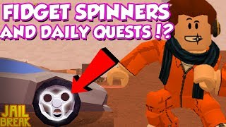 FIDGET SPINNERS AND DAILY QUESTS IN ROBLOX JAILBREAK?! / DefildPlays