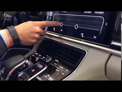 2017 Porsche Panamera Turbo touch screen controlled center air vent