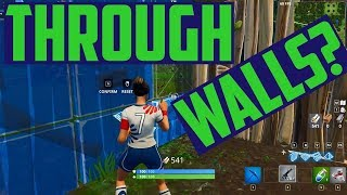 HOE JE DOOR MUREN HEEN GAAT IN FORTNITE - FORTNITE WALL GLITCH NEW