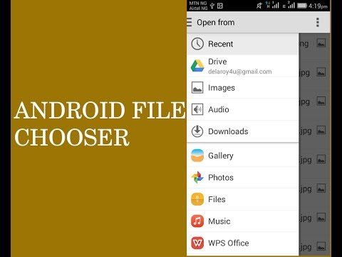 ANDROID FILE CHOOSER