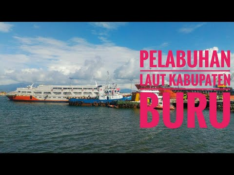Lanskap Pelabuhan Laut Namlea Kabupaten Buru