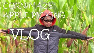 Wojcik's Farm Cornmaze And Apple Picking Vlog! Part 1
