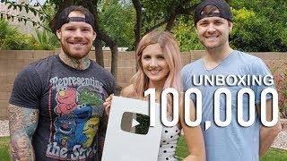 Unboxing 100k Subscriber Plaque