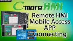 C-more Remote HMI: Connect Mobile App to Control your C-more HMI