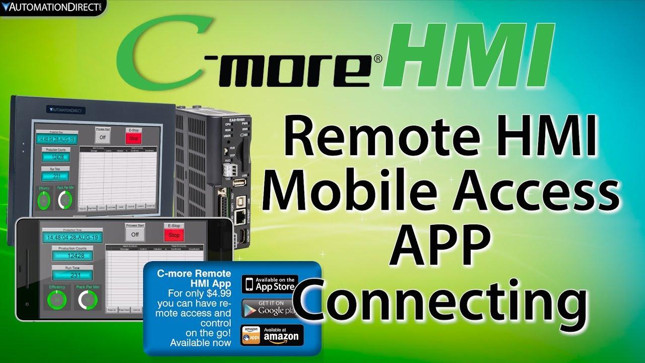 C-more Remote HMI: Mobile App to Control your C-more HMI