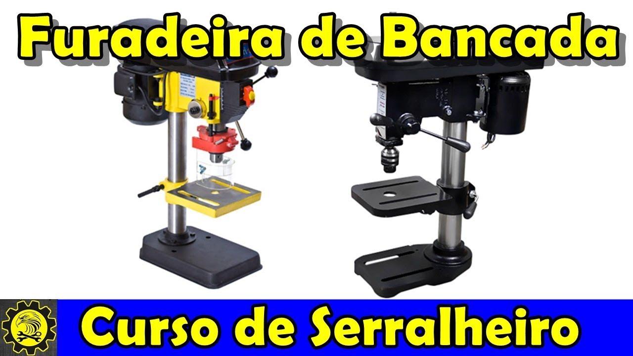 Curso de Serralheiro 9 / Furadeira de Bancada / Curso de Serralheria