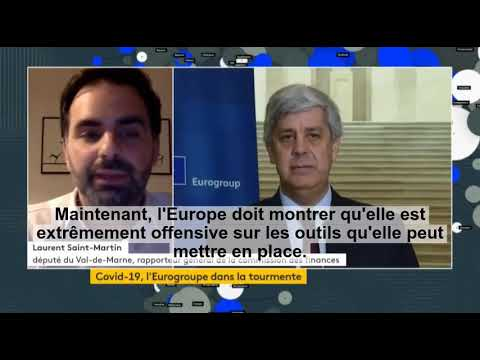 Interview de Laurent Saint-Martin sur la réunion des ministres de finances de l'Eurogroupe