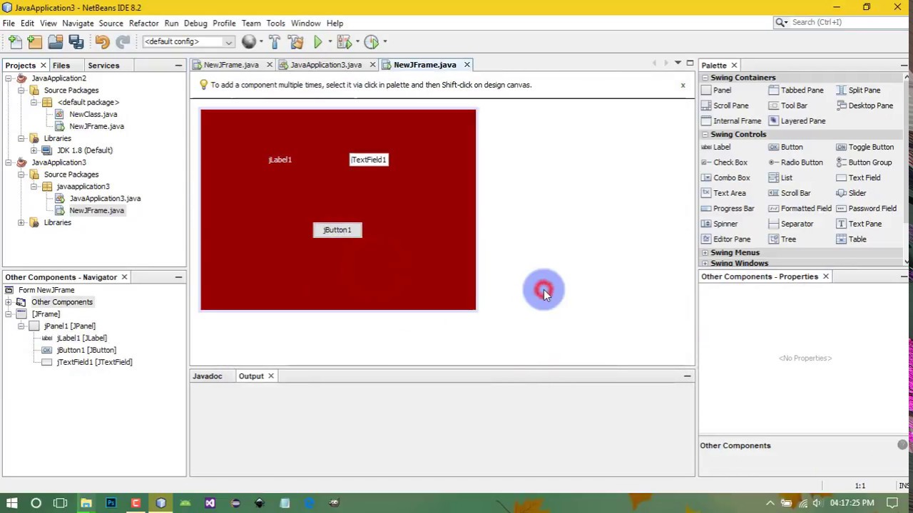 Change Jframe Background Color In Netbeans Youtube