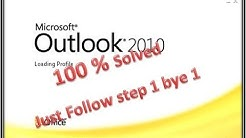 Outlook 2010 stuck on loading profile window