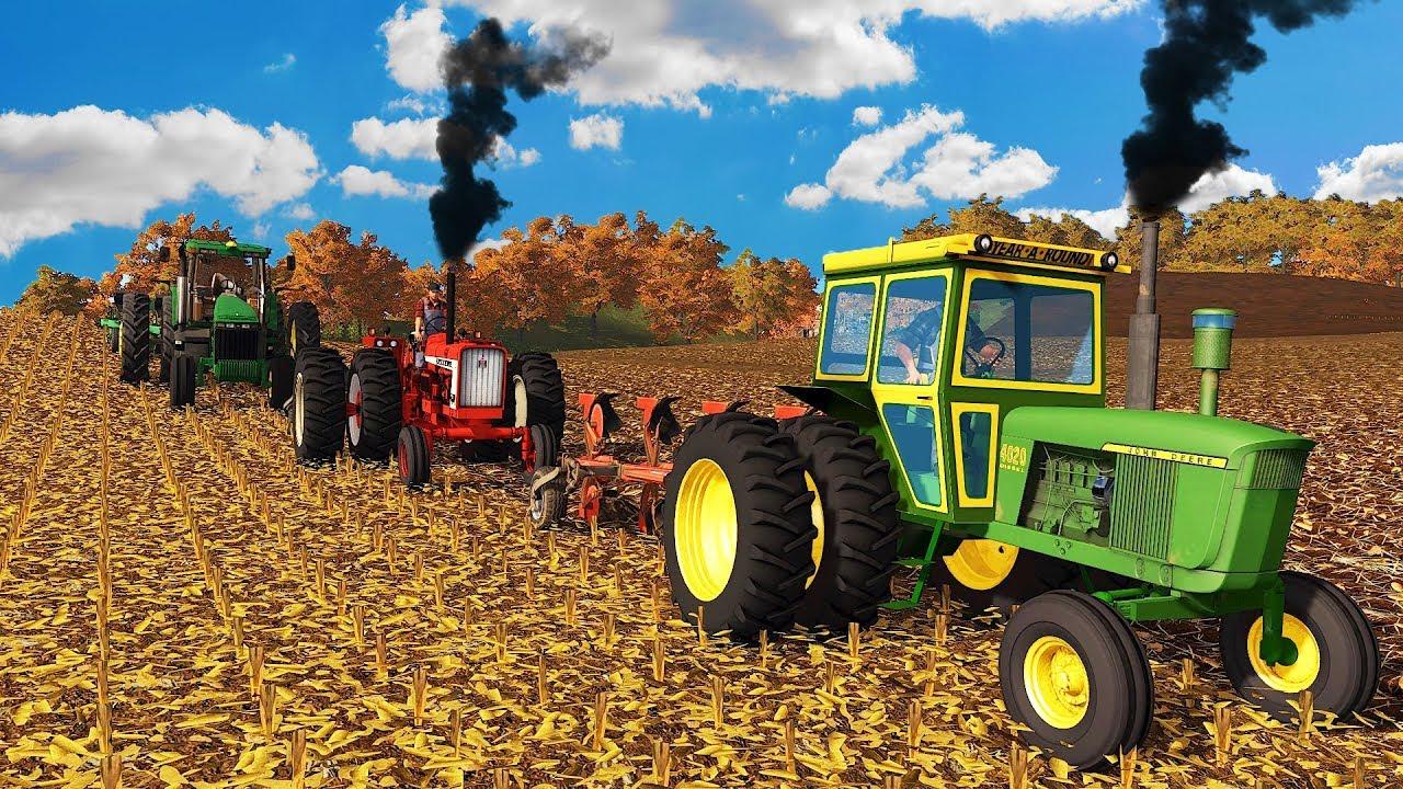 PLOW DAY ON YOTE FARMS! JD 4020, FARMALL 706 PULLING 4 BOTTOM | FARMING  SIMULATOR 2017
