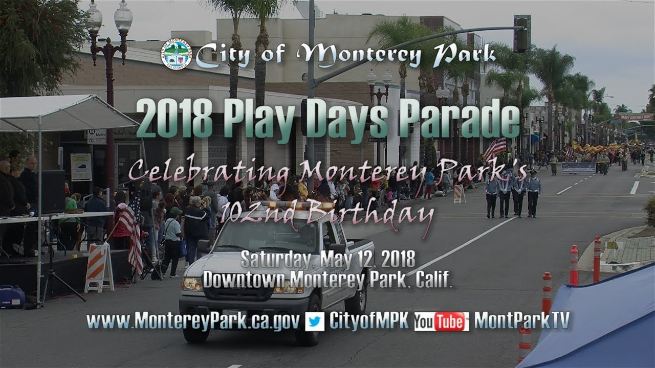 Monterey Park Play Days Parade 2018