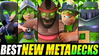 *NEW!* TOP 5 STRONGEST DECKS IN CLASH ROYALE NOW!! EASY WINS!!