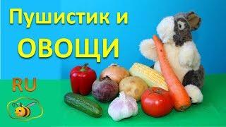 Учим овощи с зайчиком Пушистиком – развивающее видео для малышей (для самых маленьких детей)