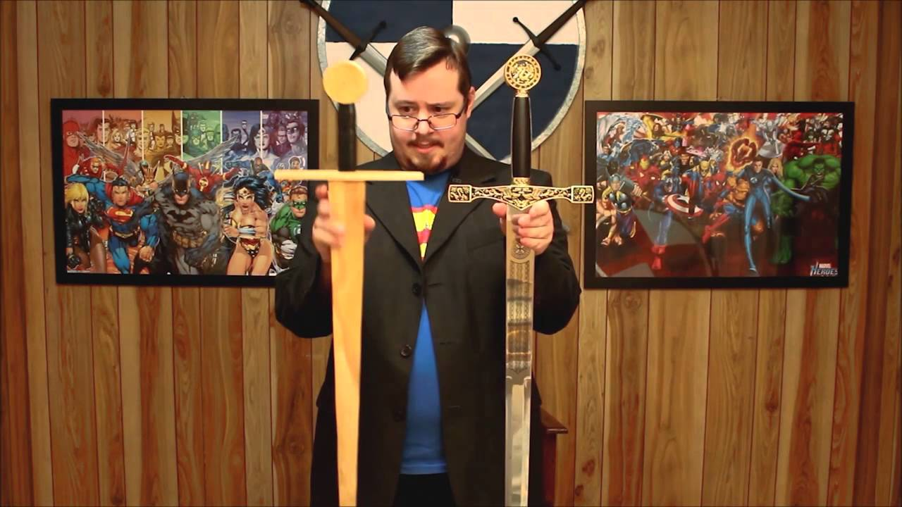 Why I use wooden swords and bad sword design - YouTube