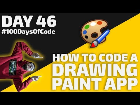 How To Code A DRAWING App In JavaScript - Day 46 - #100DaysOfCode