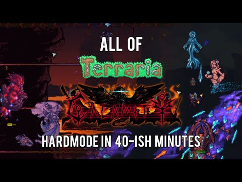 All Of Terraria Calamity Mod Hardmode In 40-ish Minutes (2/3)