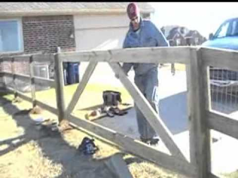 How to build a wood ranch rail with wire horse fence youtube - Build wire fence foundation ...
