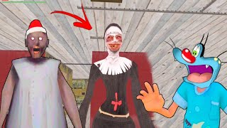 Granny Ke Ghar Me Evil Nun | Funny Horror Game With Oggy and Jack