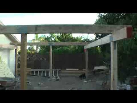 Back Yard Patio Cover Video #2   YouTube
