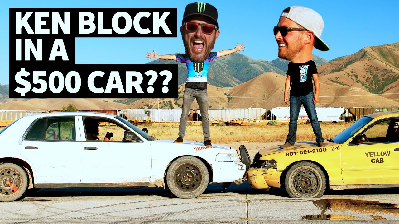 $500 Rallycross?? Ken Block and Steve Arpin Race in Ex Police Cars - Ford Crown Victoria Mayhem