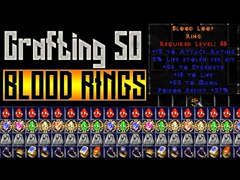 50 Crafted Blood Rings + Crafting Tips - Diablo 2