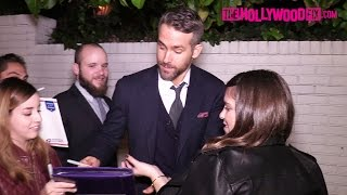 Ryan Reynolds & Warren Beatty Arrive To The GQ Men Of The Year Party At The Chateau Marmont